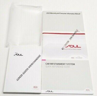 2020 KIA SOUL OWNERS MANUAL GT LINE EX X LINE S LX V4 2.0