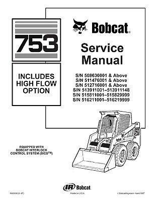Bobcat 753 High Flow Skid Steer Loader Service Repair