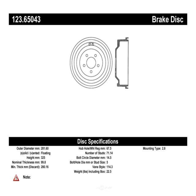 Brake Drum fits 2001-2002 Ford Explorer Sport Trac C-TEK