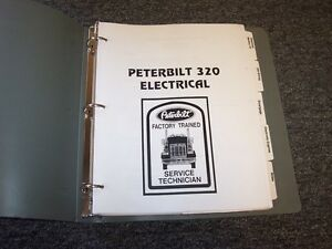 1997-1998 Peterbilt Model 320 Factory Electrical Wiring