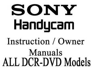 Sony Handycam Camera User Guide Instruction Manual- all 92