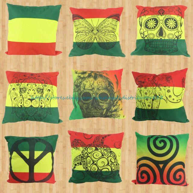 wholesale 9pcs rasta reggae cushion