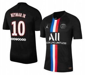 details zu trikot nike paris saint germain 2019 2020 4th neymar 10 black jordan fourth psg