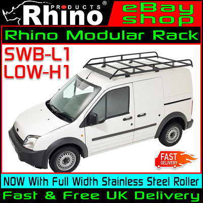 ford transit connect rhino modular roof ladder rack with roller swb l1 2002 2013 ebay