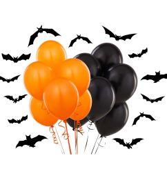 details about plain black orange 12 inch halloween party balloons decorations [ 1600 x 1600 Pixel ]