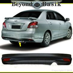 Bodykit All New Yaris Trd Grand Avanza 1.3 M/t 2007 2012 Toyota 4dr Sedan Rear Bumper Add On Factory Image Is Loading
