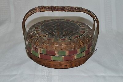 antique woven chinese basket