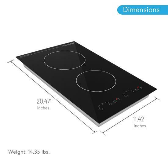 Nutrichef Dual 120v Electric Induction