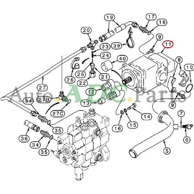 87433897 Hydraulic Pump for Case Loader Backhoe 580SL
