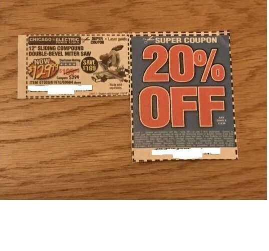 Harbor Freight 12 Miter Saw Coupon