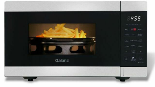 galanz 900w 0 9 cu ft air fry microwave