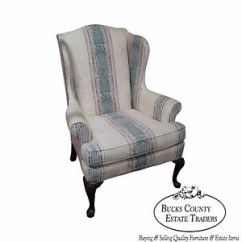 Queen Anne Wing Chair Stackable Office Chairs Highland House Hickory 18th Century Style Ebay Image Is Loading