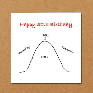 Funny 50th Birthday Card Family Friends Humorous Cheeky