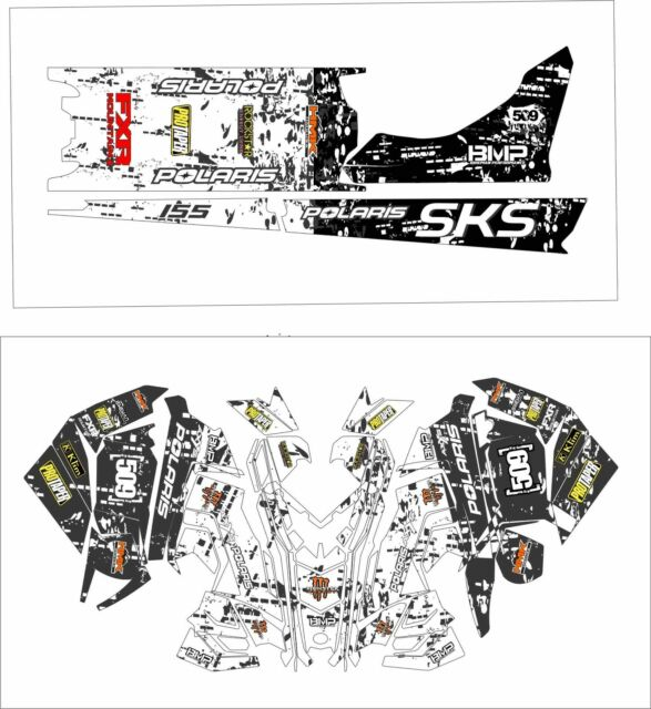 POLARIS AXYS WRAP SKS decal GRAPHICS 800 600 RMK 144 155