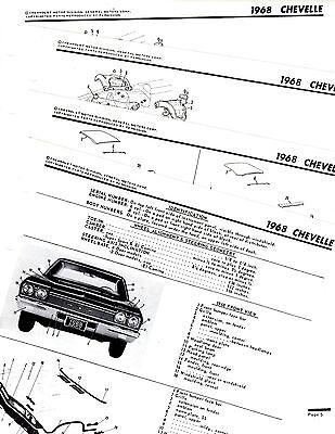 1968 CHEVROLET CHEVELLE EL CAMINO 68 ORIGINAL MOTORS BODY