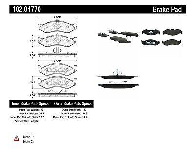 C-TEK Metallic Brake Pads fits 1990-2006 Jeep Cherokee
