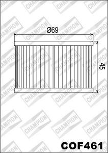 COF461 Oil Filter CHAMPION Kymco 250 Venox 250 2002 2003