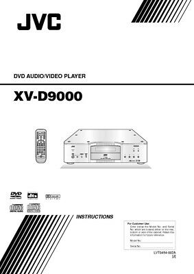 JVC XV-D9000 DVD Player Owners Instruction Manual Reprint