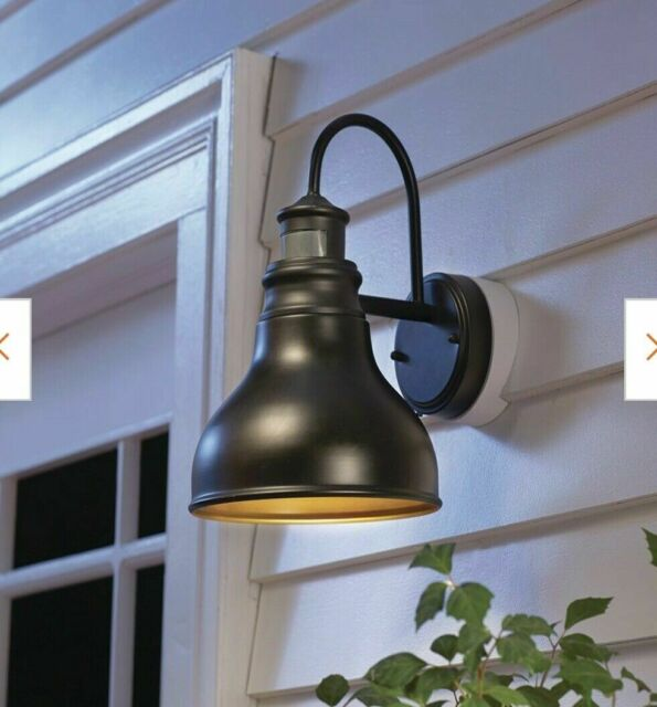 home decorators collection oil rubbed bronze outdoor led motion sensor wall o345