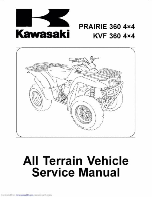 Kawasaki service workshop manual 2003, 2004 & 2005 PRAIRIE
