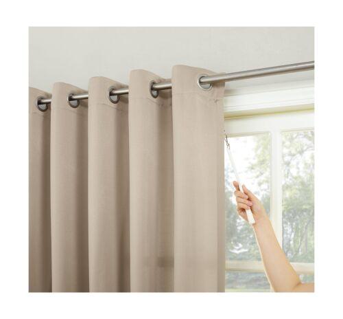 window treatments hardware sun zero barrow energy efficient patio door curtain panel stone beige home garden