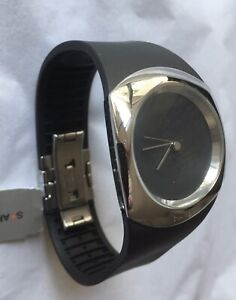 Philippe Starck Watch 'Minimalist' PH5041, Blk Dial & Band, Stainless Case, NWT!   eBay