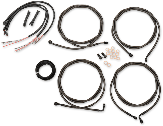 LA Choppers Handlebar Cable/Brake Line Kit LA-8054KT2-13M