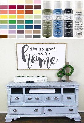 Best paint for furniture 2021: 2oz Decoart Americana Chalky Finish Paint Diy Shabby Chic Crafts Furniture Art Ebay