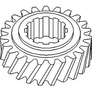 Transmission Countershaft 3rd Gear Fits Allis Chalmers 180