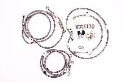 09-15 V Max 1700 ABS Galfer 6-Line Complete Brake Line Kit