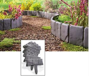 interlocking faux stone border