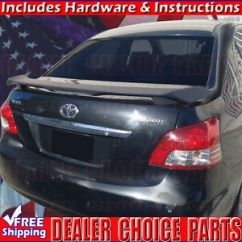 Toyota Yaris Trd Spoiler Spesifikasi Grand New Avanza Veloz 1.5 2007 2012 Oem Factory Style Wing W Led Image Is Loading