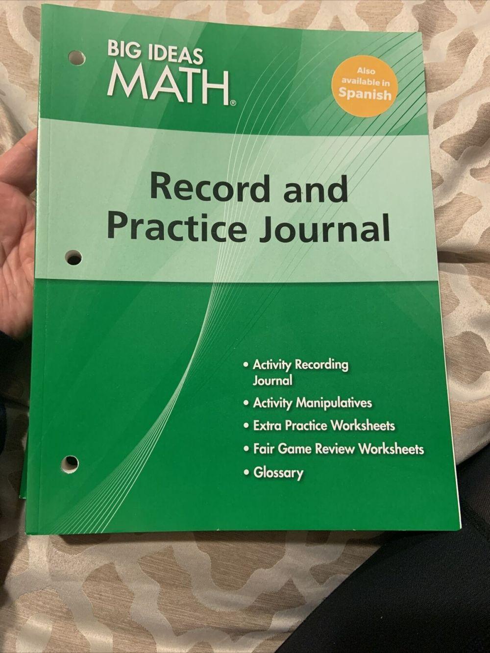 medium resolution of Big Ideas Math Record \u0026 Practice Journal Grade 6 Green Common Core  9781608404605 for sale online   eBay