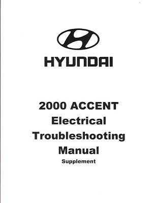 2000 Hyundai Accent OEM Electrical Wiring Diagrams