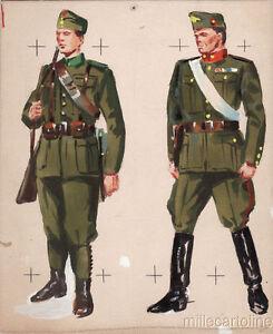 WWII ORIGINAL MILITARY SKETCH  Army Uniforms