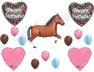 brown horse floral birthday party