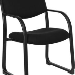 Office Side Chairs Chair Guide Heavy Duty Black Color Fabric Reception And
