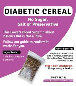 Diabetic Cereal 440 Grams Low GI - No Added Sugar Free | eBay