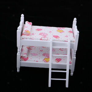 details about magideal 1 12 bunk bed dollhouse miniature bed mini bunk beds for dolls