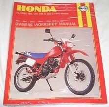 Haynes Manual HONDA XL XR XL80 XR80 XL100 XR100 XL125