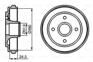 Brake Drum 180mm 63mm Fits OPEL SUZUKI VAUXHALL Agila 2000