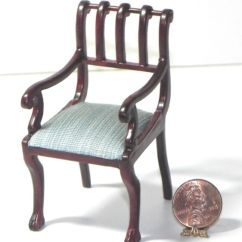 British Colonial Chair Hammock Stand Diy Dollhouse Miniature Blue 1 12 Scale Ebay