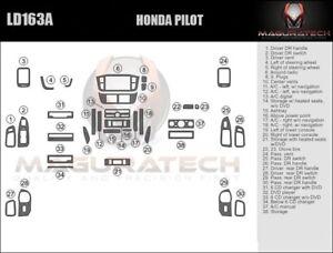 Fits Honda Pilot 2005 NO Navigation Large Wood Dash Trim