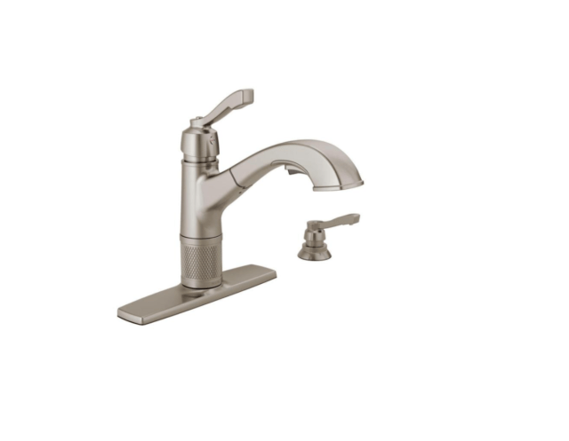 delta 16935sssddst pull out kitchen faucet