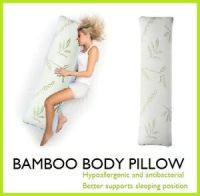 BAMBOO BODY PILLOW MEMORY FOAM SUPPORT LARGE FULL LONG ...