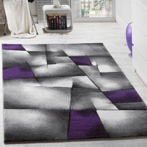 modern abstract violet et gris tapis tapis geometrique low pile salon maison tapis alfa bau gmbh de
