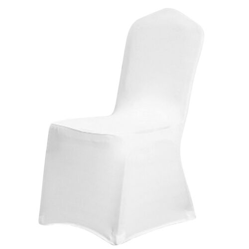 folding chair covers spandex frontgate lounge chairs 10 20 100 white black fitted wedding 2 of 6 party banquet