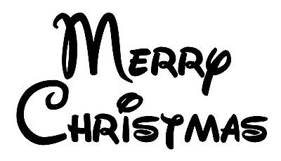 Merry Christmas Style 3 Font Vinyl Wall Art Decal Removable Mickey Ebay