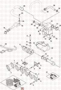 Exhaust Manifold Mounting Kit for Mack E7 engines match OE