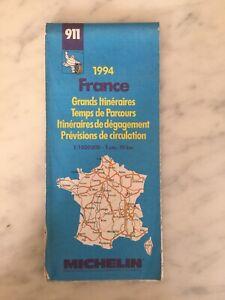 Carte Routière De France Michelin : carte, routière, france, michelin, Carte, Routière, MICHELIN, N°911, FRANCE, Grands, Itinéraires